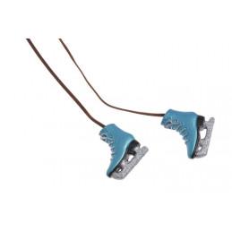 Łyżwy zawieszka kpl 35-4cm blue