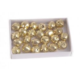 Zestaw mini dzwoneczkow 1,4 cm gold