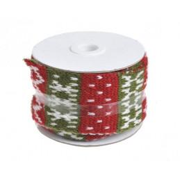 Rolka wełny we wzorek świąteczny na drutach 2 m