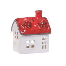 Domek ceramiczny szkliwiony 11x8x13 cm