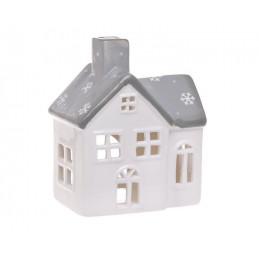 Domek ceramiczny szkliwiony - lampion 10 cm