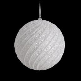 Bombka spirale pereł 15 cm - ozdoba choinkowa