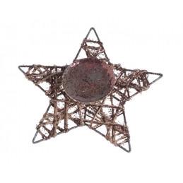 Podstawka pod świecę - gwiazda 25 cm DK