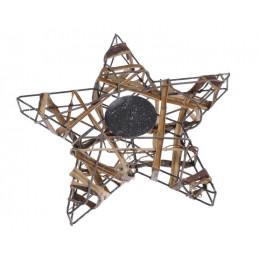 Świecznik gwiazda 25 cm NAT-SILV