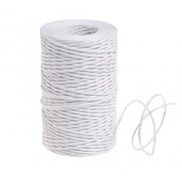 Sznurek papierowy z drucikiem biały 100 m