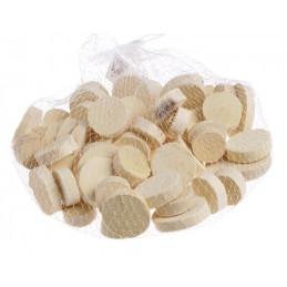 Plasterki drewna białe, 300 g