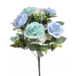 Bukiet z różami - sztuczna roślina MIX KOLORÓW