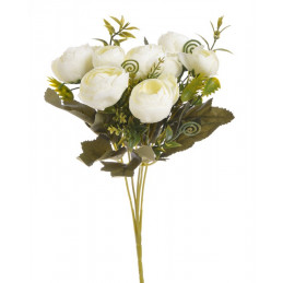 Bukiet camelia x5 28 cm - sztuczna roślina MIX KOLORÓW