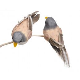 Ptaszek 10cm na klipie 6szt/paczka