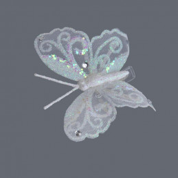 Motyl 12 cm na klipie - krt.12sztuk/paczka