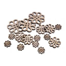 Kwiatki naturalne mix 8,5-3 cm,16 szt-paczka