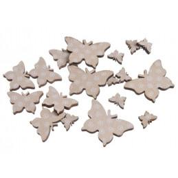 Motylki beżowe mix 7-2,5 cm, 18 szt-paczka