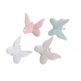Motyl na klipie 5 cm - ceramika