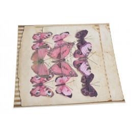 Motyl na klipie 6-10 cm, 9 szt/kpl PURPLE