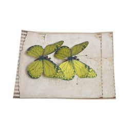 Motyl na klipie 7,5 cm, 2 szt/kpl LT GREEN