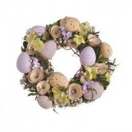 Wianek z jajkami 23 cm- dekoracja wiosenna