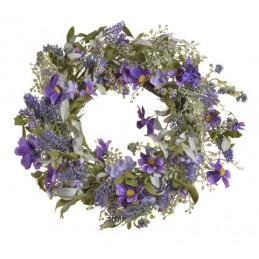 Wianek wiosenny 50 cm PURPLE-LAV - dekoracja wiosenna