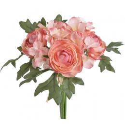 Bukiecik jaskrów z hortensją 4+3 20 cm - sztuczna roślina