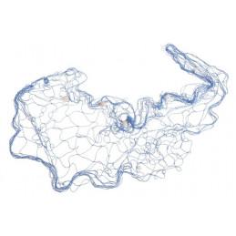 Dekoracyjna sieć rybacka z muszelkami 100 x 200 cm