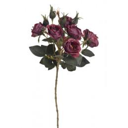 Gałązka róż 6+4 liść jesienny, 54 cm