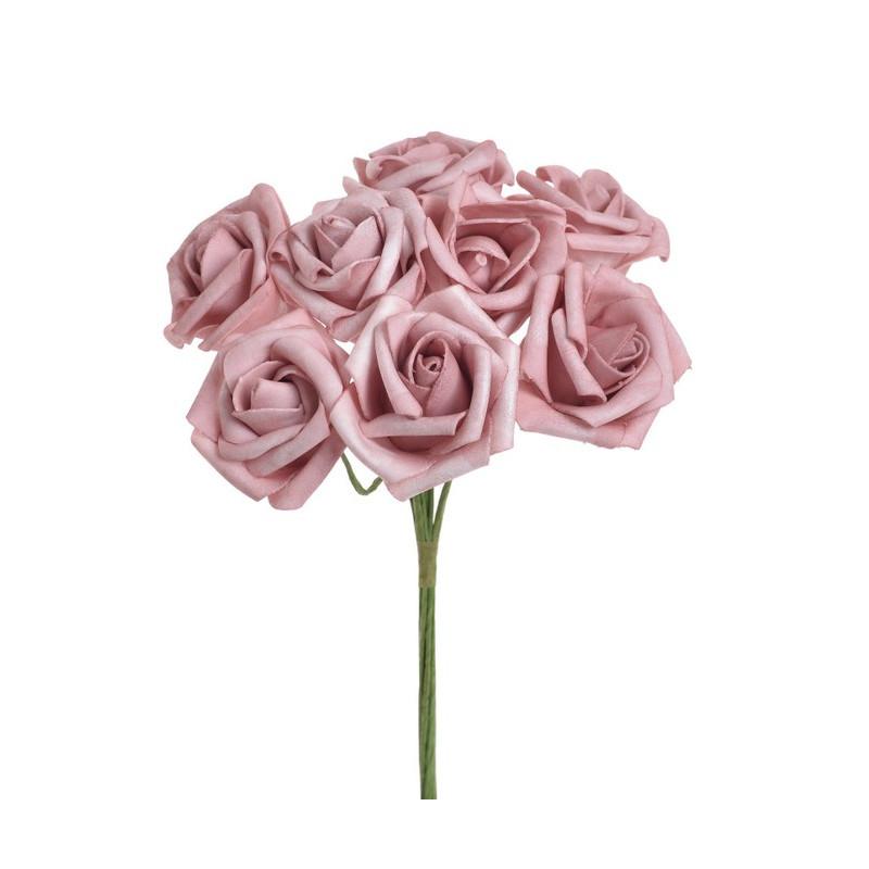 Bukiet róż x 8 , 25 cm