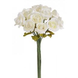 Różyczki piankowe 12szt/bukiet H23 cm