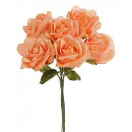 Róża duża pianka bukiet/6szt 25 cm