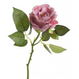 Róża aqua na krótkiej łodydze 22 cm - sztuczna roślina