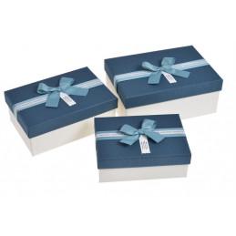 Pudełka 3szt-kpl BLUE/WH