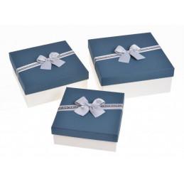Pudełka 3szt-kpl BL/WH