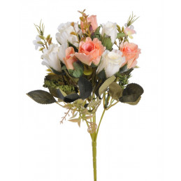 Bukiecik różyczek mieszanych, 30 cm -sztuczna roślina