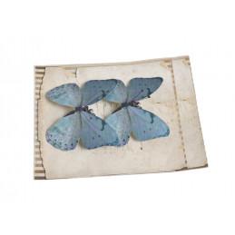 Motyl na klipie 8cm, 2sz LT BL/VIOL