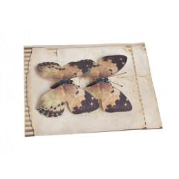 Motyl na klipie 8cm, 2szt/paczka OR/ BR