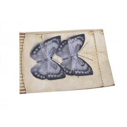 Motyl na klipie 8cm, 2szt/paczka DK GREY