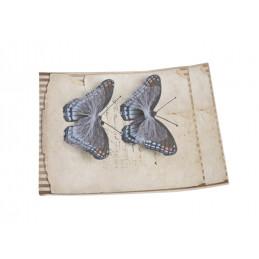 Motyl na klipie 8,5cm, 2szt DK BLUE