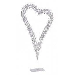 Serce na stojaku 60 cm  - element dekoracyjny