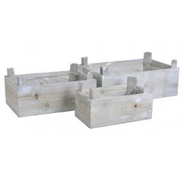 Skrzynki 3szt/kpl - drewno
