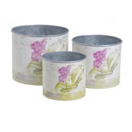 Osłonki z orchideą 3szt-kpl