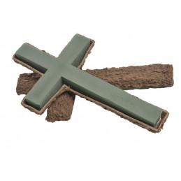 Krzyż na ekologicznej podstawie 42x26x4,5 cm - do aranżacji żywych kwiatów
