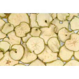 Apple sliced green painted 200 g - suszone plastry jabłka GREEN