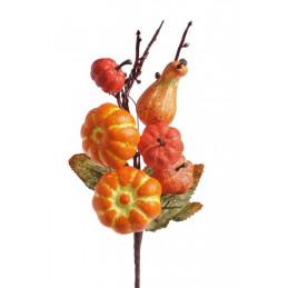 Gałązka mini dynie 22 cm - dekoracja jesienna