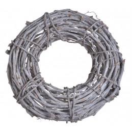 Wianek 50 cm - element dekoracyjny WHITE WASHED