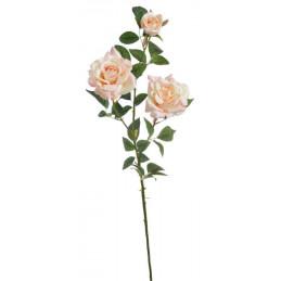 Róża welwetowa x 3, 96 cm - sztuczna roślina