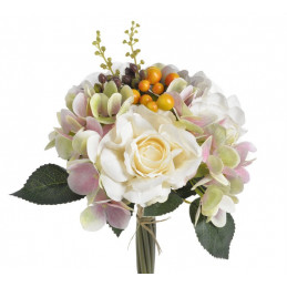 Bukiet róż z hortensją 3+3..29 cm - sztuczna roślina