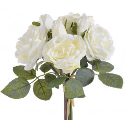 Bukiet róż 6+3, 28 cm - sztuczna roślina