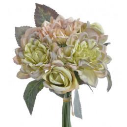 Bukiet z różą i dalią 3+3 24 cm
