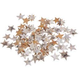 Gwiazdki małe brzoza 2,3 cm paczka/ok 300 szt