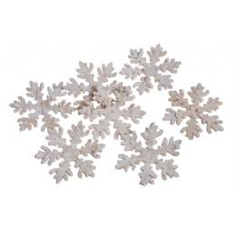 Śnieżynki 7cm paczka/10 sztuk