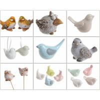 Ceramiczne ptaki figurki