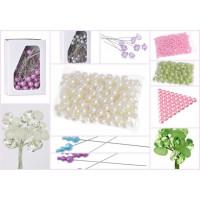 Perełki, szpilki, perełki na drucikach, diamenciki, kryształki itp.
